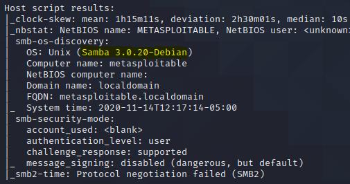 attack linux samba 3.0.20
